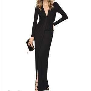 Reiss Harlyn Plunging Jersey Maxi Dress - NWT